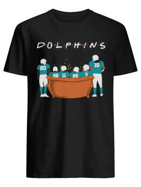 Miami Dolphins Friends TV show sitting on the sofa shirt