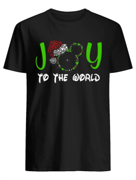Mickey Mouse Disney joy to the world ugly christmas shirt