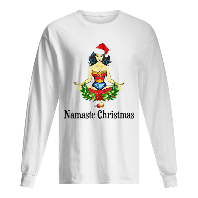 Namaste Christmas Wonder Woman Long Sleeved T-shirt
