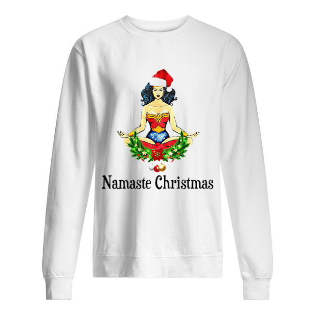 Namaste Christmas Wonder Woman Unisex Sweatshirt