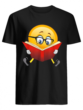 Nerdy Reading Emoji Funny Christmas Cute Book Lover Gift shirt