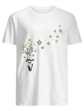 New Orleans Saints dandelion flower shirt