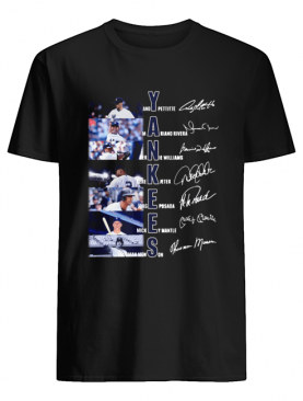 New York Yankees Andy Pettitte Mariano Rivera Bernie Williams Gerk Jeter Jorge Posada Mickey Mantle Thurman Munson signature shirt