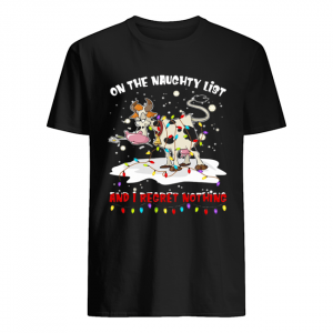 On The Naughty List And I Regret Nothing Cow Christmas  Classic Men's T-shirt