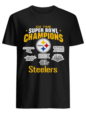 Pittsburgh Steelers NFL Six Time Super Bowl Champions shirt
