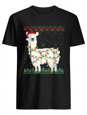 Pretty Sloth Santa Ugly Christmas Xmas Knit shirt
