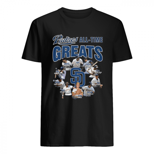 San Diego Padres All-time Greats Players Signatures  Classic Men's T-shirt