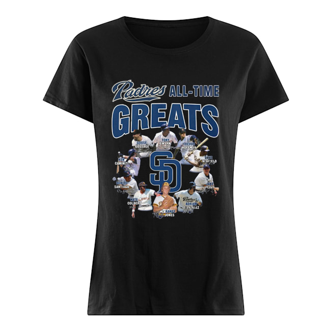 San Diego Padres All-time Greats Players Signatures Classic Women's T-shirt