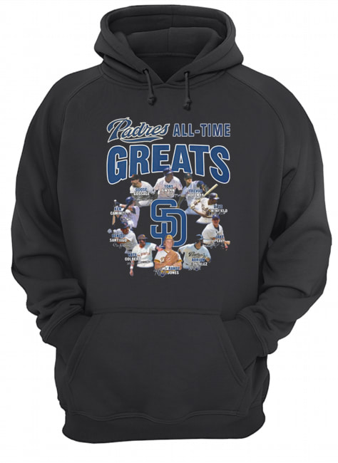 San Diego Padres All-time Greats Players Signatures  Unisex Hoodie