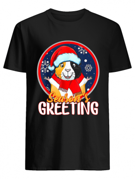 Santa Guinea Pig Season's Greeting Christmas shirt