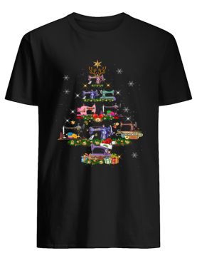 Sewing Christmas Tree Tee Quilting Lovers Sewer shirt