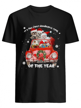 Shih Tzu and Santa it's the most wonderful time of the year Christmas shirt