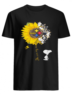 Snoopy Woodstock you are my sunshine Pittsburgh Steelers shirt