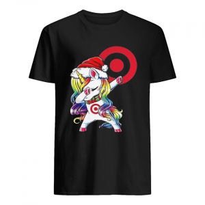 Target corporation dabbing Unicorn christmas  Classic Men's T-shirt
