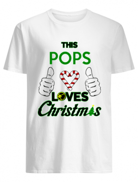 This Pops Loves Christmas Cool Fun Dad Grandparent Holiday shirt
