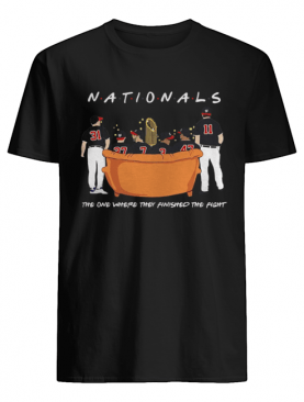 Washington Nationals Friends Sitting on the sofa the one where they finished the side shirt