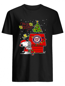 Washington Nationals Snoopy Woodstock Merry Christmas shirt
