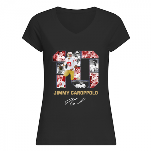 #10 Jimmy Garoppolo San Francisco 49ers Signature ladies