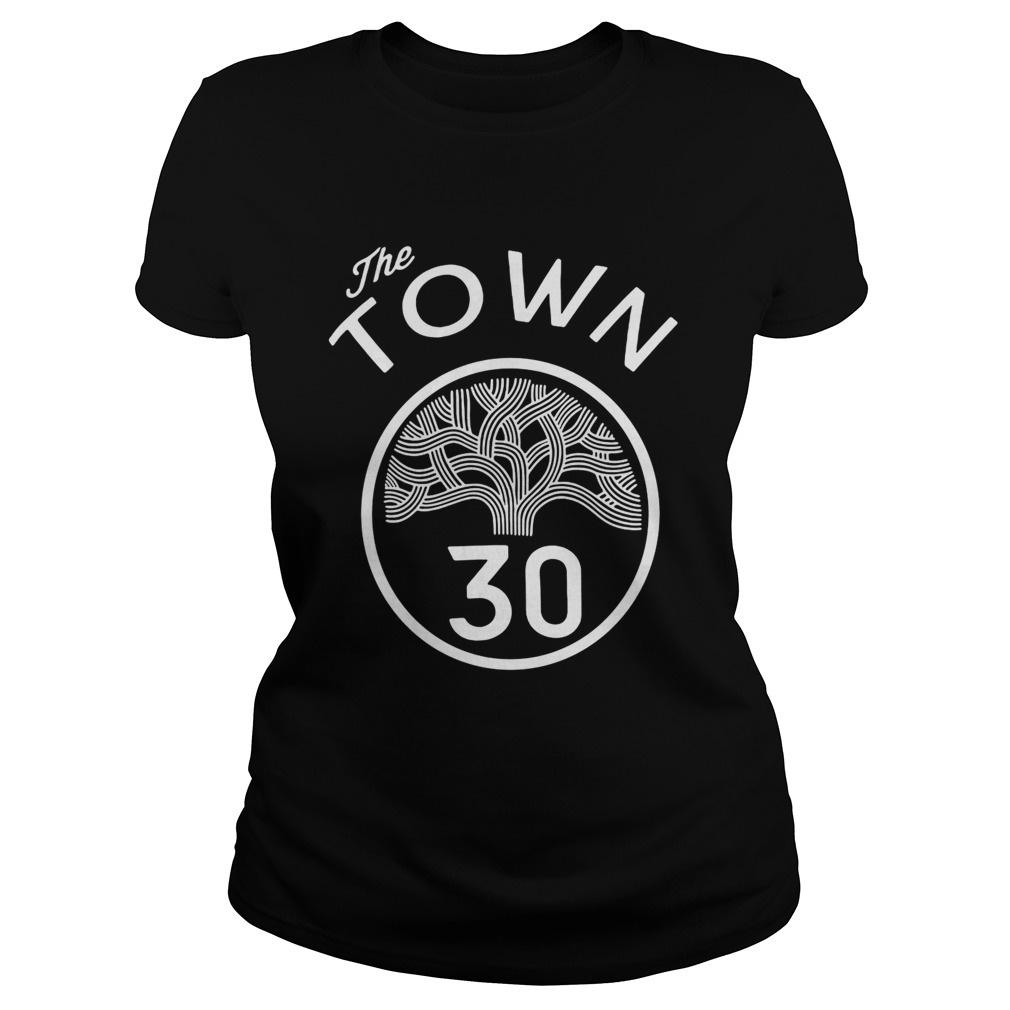 30 Stephen Curry The Town Blue Golden State Warriors Classic Ladies