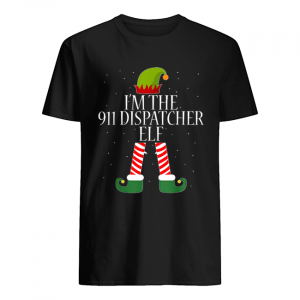 911 Dispatcher Elf Funny Christmas Elves  Classic Men's T-shirt