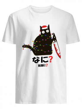 Black Cat Santa Knife Nani Christmas shirt