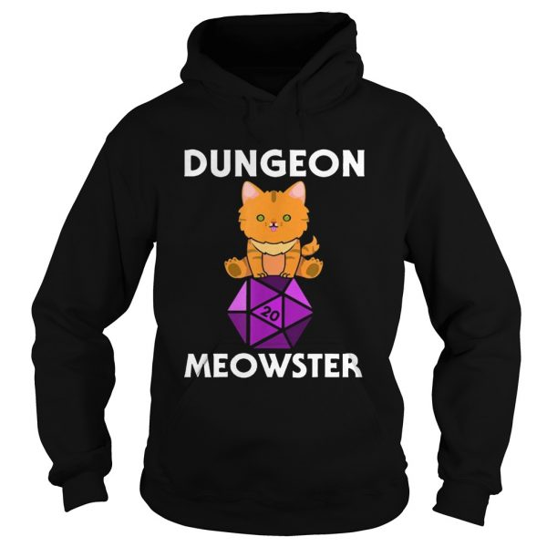 Dungeon Meowster Nerdy Cat D20  Hoodie
