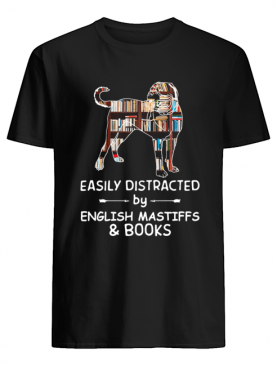 Easily Distracted By English Mastiffs And Books Crewneck shirt
