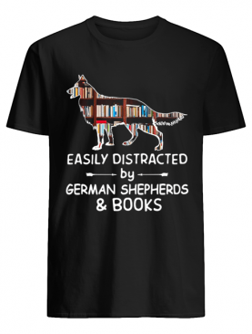 Easily Distracted By German Shephers And Books Crewneck shirt
