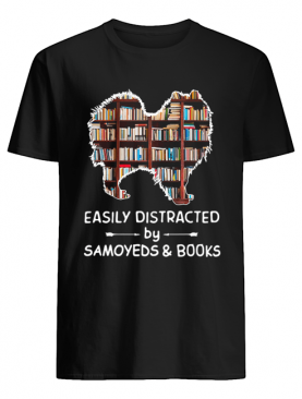 Easily Distracted By Samoyeds And Books Crewneck shirt