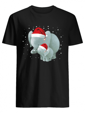 Elephants Mom And Baby Christmas shirt