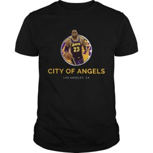LeBron James Los Angeles Lakers 23 city of angels  Unisex