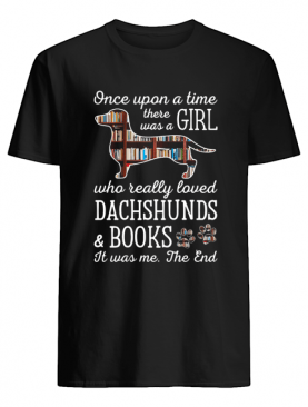 Once Upon Book And Dachshunds Crewneck shirt