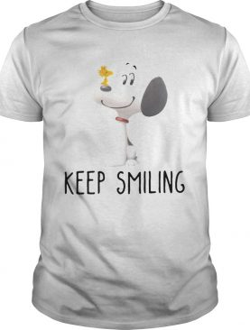 Snoopy and Woodstock keep smiling shirt