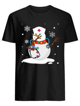 Snowman nurse christmas shirt
