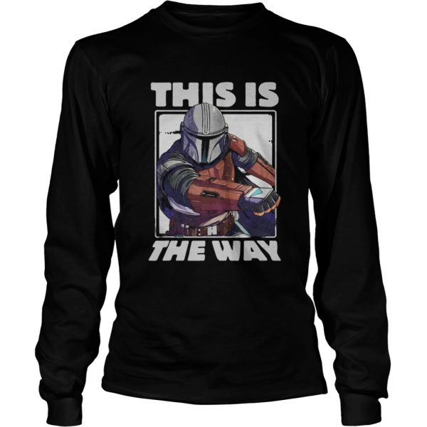 Star Wars The Mandalorian This Is The Way Portrait  LongSleeve
