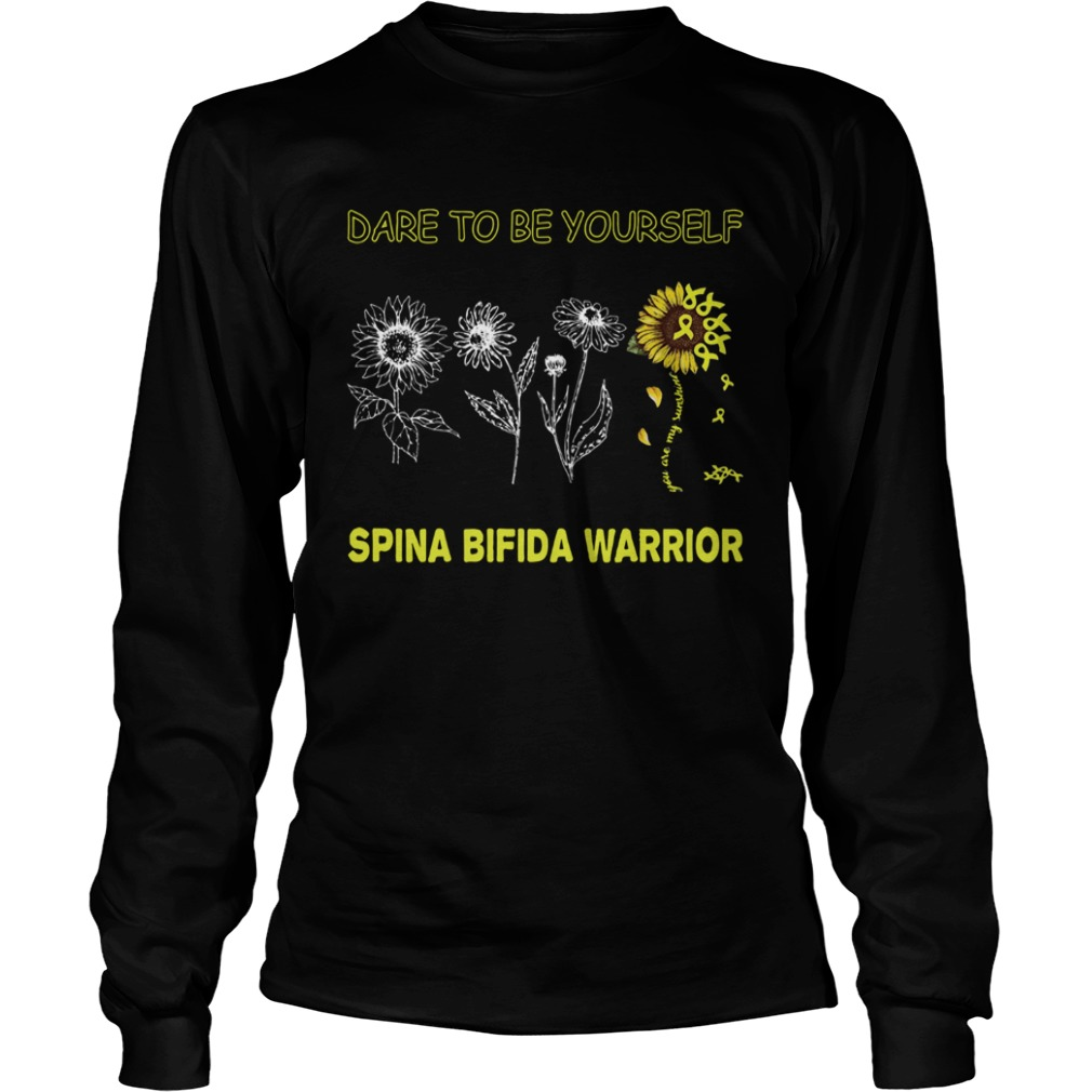 Sunflowers dare to be yourself spina bifida warrior LongSleeve