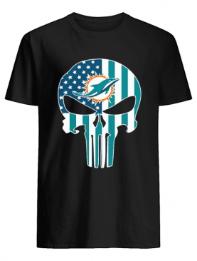 The Punisher Skull American Flag Miami Dolphins shirt