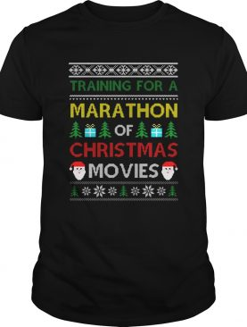 Training for a marathon of Christmas movies shirt