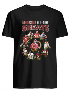 Washington Redskins All-time Greats Players Signatures shirt