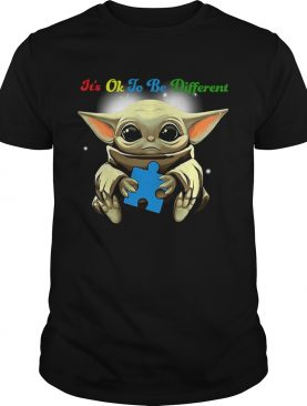 Baby Yoda Hug Autism Its Oh To Be Different shirt