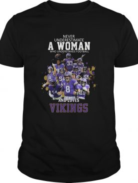 Never Underestimate A Woman Who Understands Football And Loves Viking shirt