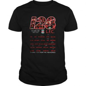 128 years of 1892 2020 Liverpool Club thank you for the memories signatures  Unisex