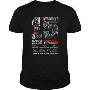15 Years Of 2005 2020 Criminal Minds Thank You For The Memories Signatures  Unisex