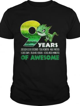 T-rex Dinosaur 9th Birthday shirt