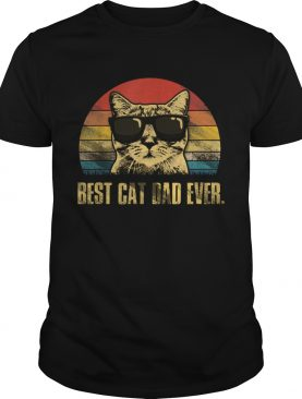 Best Cat Dad Ever Fathers Day Vintage Cat Lovers shirt
