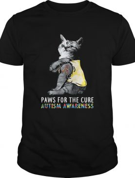 Cat Paws For The Cure Autism Awareness shirt