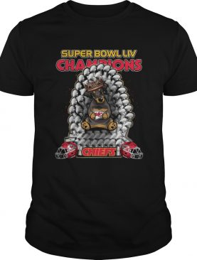 Daschund Iron Throne Super Bowl LIV Champions Chiefs shirt