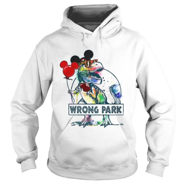 Dinosaur Trex Mickey Mouse Wrong Park  Hoodie