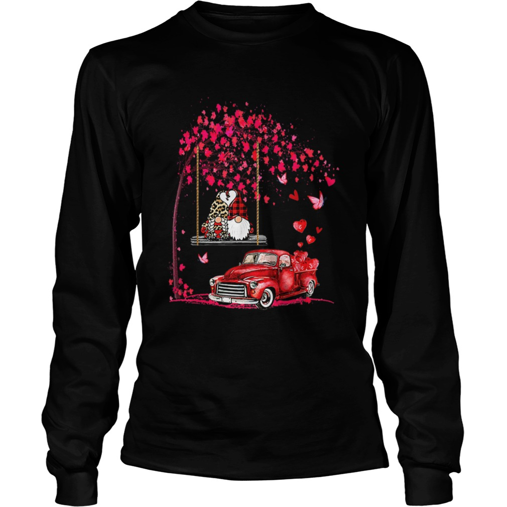 Gnomes Red Truck Tree Valentines Day LongSleeve