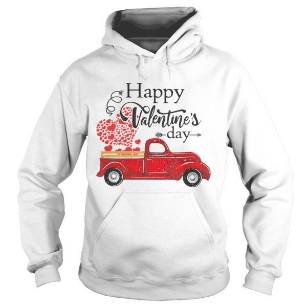 Happy Valentines Day Truck Carrying Love Heart  Hoodie